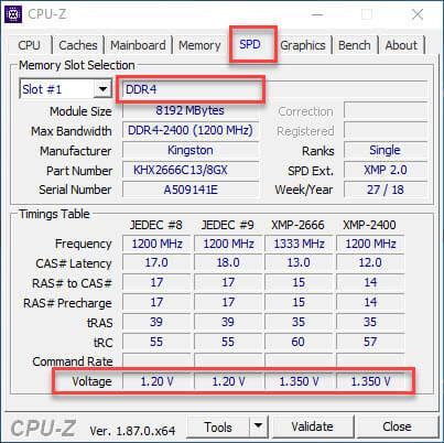 Определение типа памяти на ПК или ноутбуке через CPU-Z