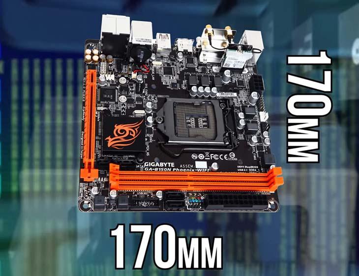 Материнка Mini-ITX 170х170 мм