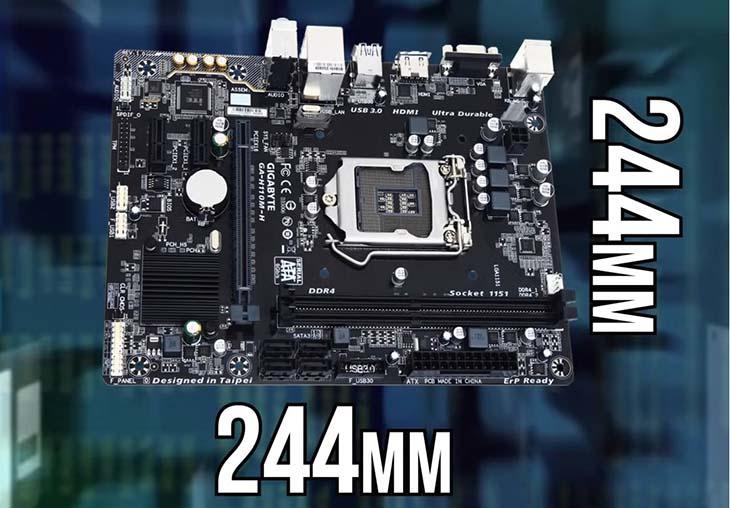 Типоразмер системной платы Micro-ATX 244х244 мм