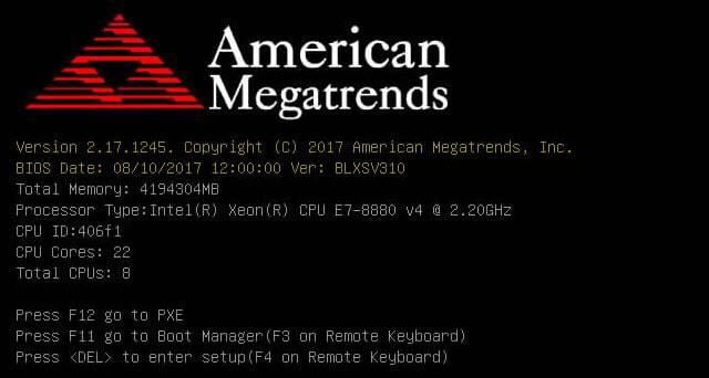 версия bios american megatrends inc