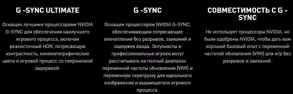Различие Gsync